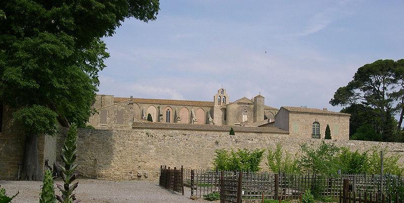 Photo du Monument Historique Ancienne abbaye de Sainte-Marie de Valmagne situé à Villeveyrac