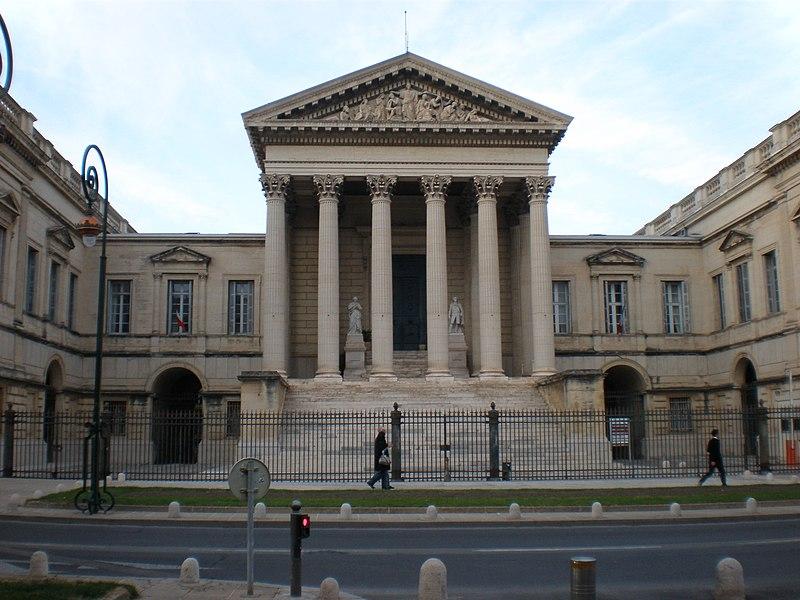 Photo du Monument Historique Palais de Justice situé à Montpellier