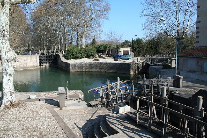 Photo du Monument Historique Canal du Midi (écluse ronde) situé à Agde