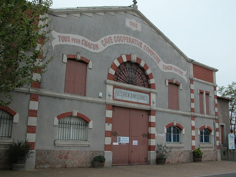 Photo du Monument Historique Cave coopérative Les Vignerons libres situé à Maraussan
