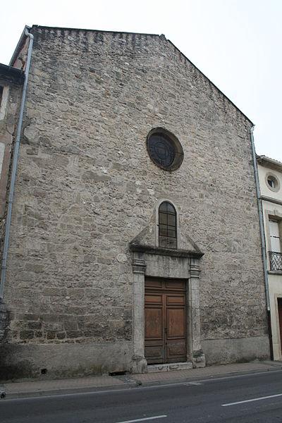 Photo du Monument Historique Ancienne chapelle du couvent des Augustins, chapelle des Pénitents situé à Montagnac