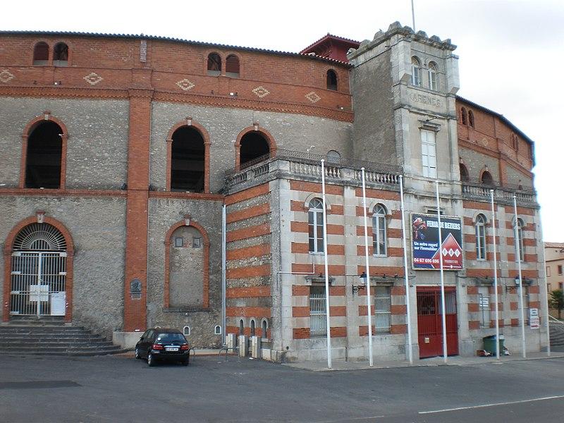 Photo du Monument Historique Arènes à taureaux situé à Béziers