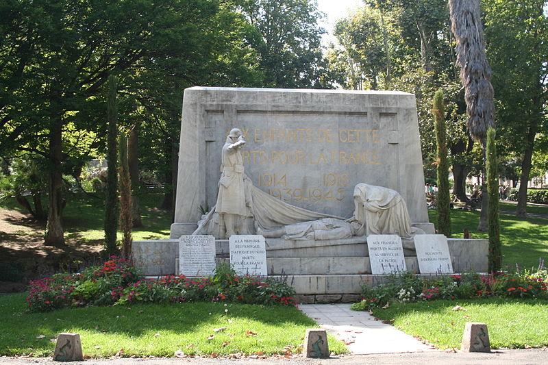 Photo du Monument Historique Monument aux morts de la guerre de 1914-1918 situé à Sète