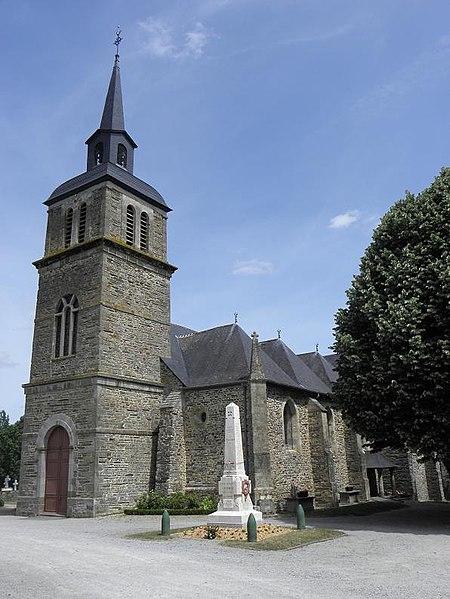 Photo du Monument Historique Eglise Saint-Martin de Tours situé à Amanlis