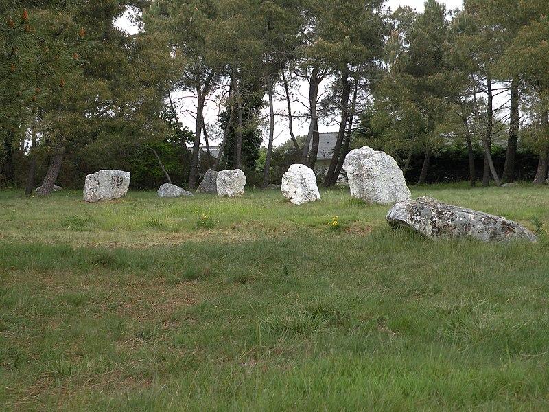 Photo du Monument Historique Alignements mégalithiques dits Les Demoiselles de Langon situé à Langon
