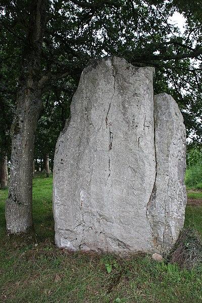 Photo du Monument Historique Menhir dit Roche Piquée situé à Livré-sur-Changeon