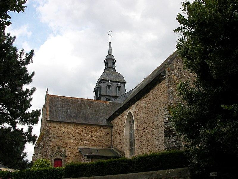 Photo du Monument Historique Eglise Sainte-Mélaine situé à Pacé