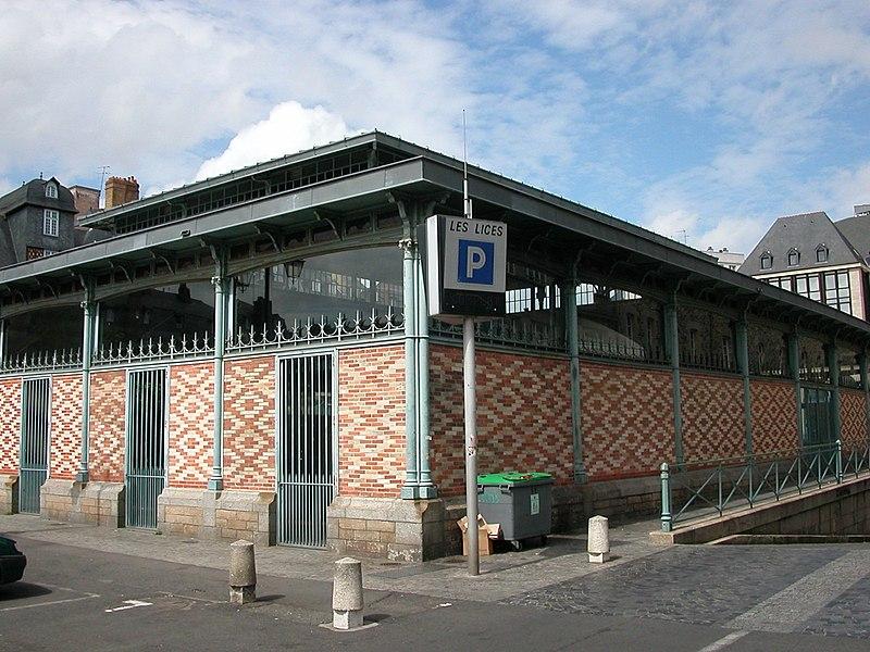 Photo du Monument Historique Halles Martenot situé à Rennes