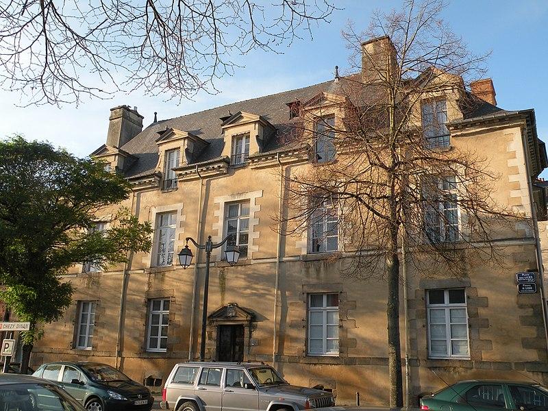 Photo du Monument Historique Maison ou hôtel Montbourcher situé à Rennes