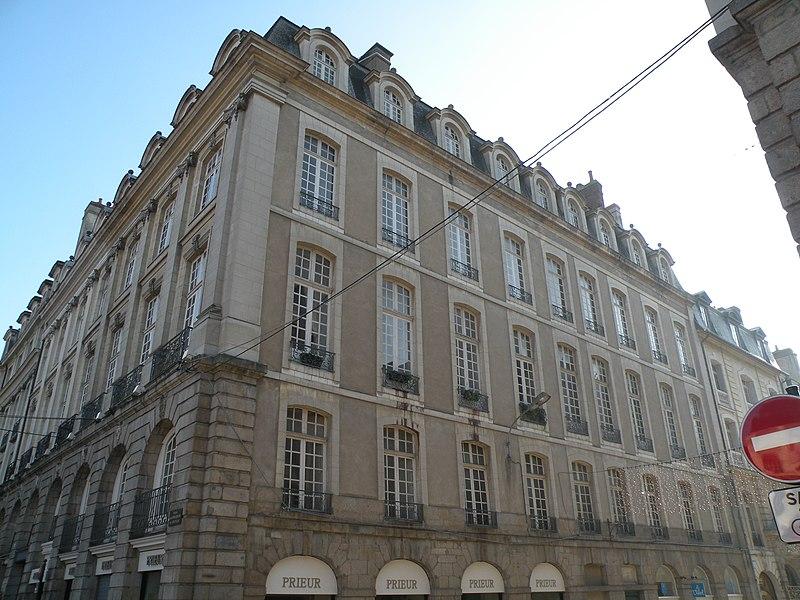 Photo du Monument Historique Immeuble, actuellement bijouterie Prieur situé à Rennes