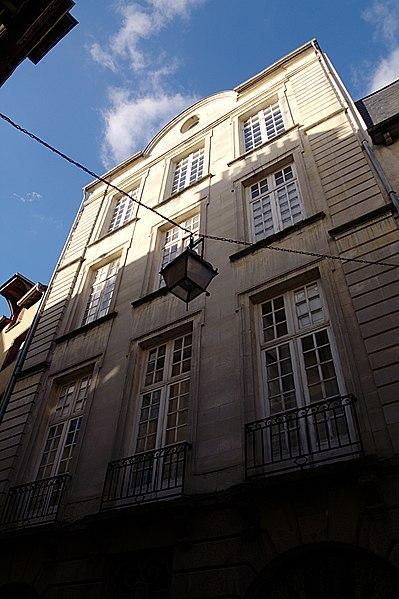Photo du Monument Historique Immeuble, appelé Petit Hôtel de Chalain situé à Rennes