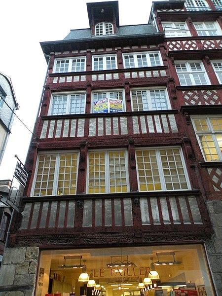Photo du Monument Historique Immeuble situé à Rennes