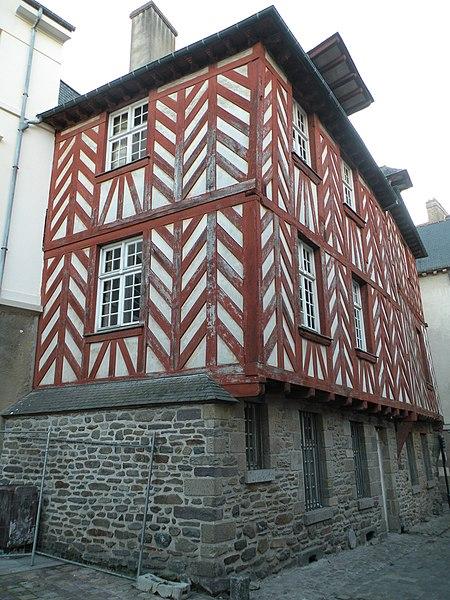 Photo du Monument Historique Maison dite de la Chouette situé à Rennes