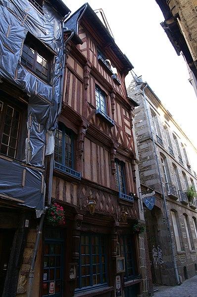 Photo du Monument Historique Maison situé à Rennes