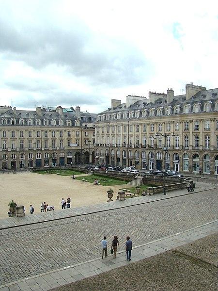 Photo du Monument Historique Place du Parlement de Bretagne situé à Rennes