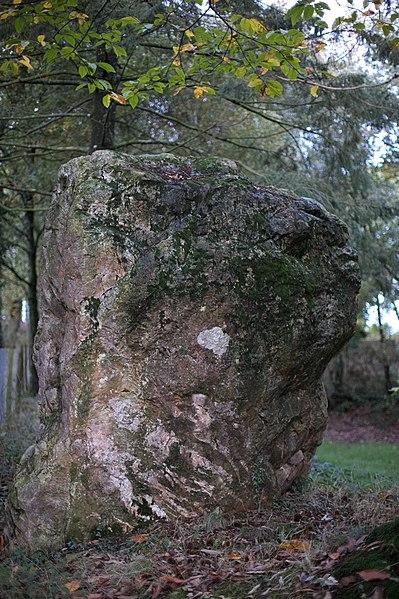Photo du Monument Historique Menhir dit Pierre de Richebourg situé à Retiers