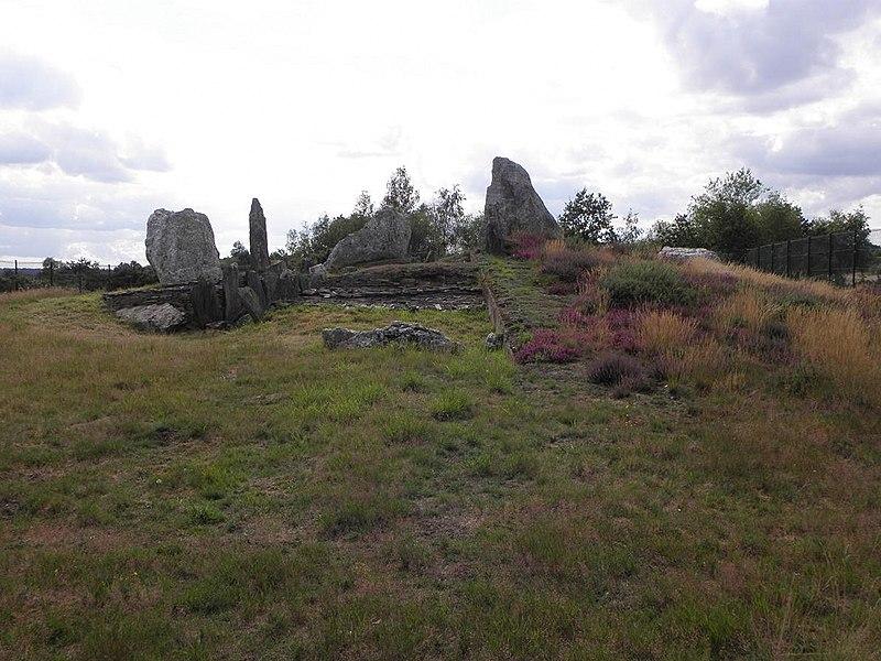 Photo du Monument Historique Tumulus surmonté de menhirs, dit le Château Bû situé à Saint-Just