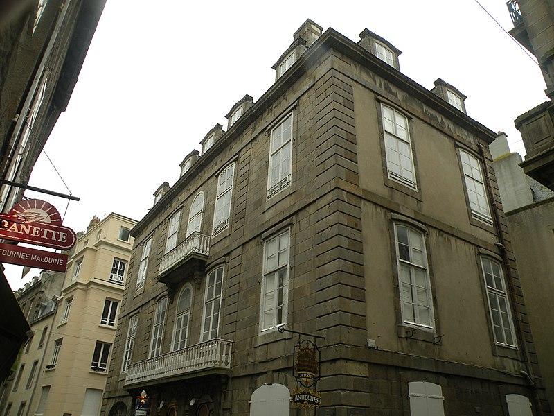 Photo du Monument Historique Maison ou Hôtel de Brevest situé à Saint-Malo