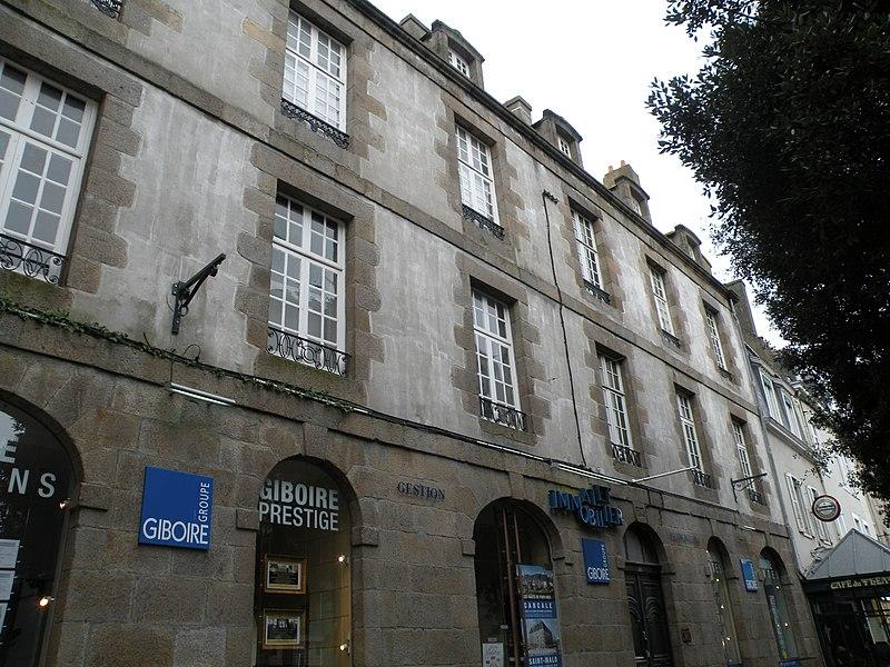 Photo du Monument Historique Ancien hôtel du Pélican situé à Saint-Malo