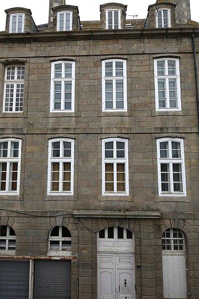 Photo du Monument Historique Maison (ancien hôtel Baude du Val, ancienne maison de corsaire) situé à Saint-Malo