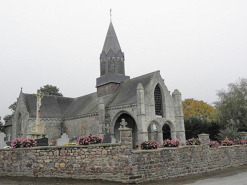 Photo du Monument Historique Eglise Saint-Hubert situé à Nouaye (La)