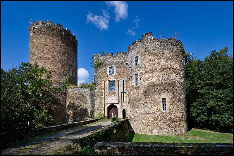 Photo du Monument Historique Vestiges du château de Châteaubrun situé à Cuzion