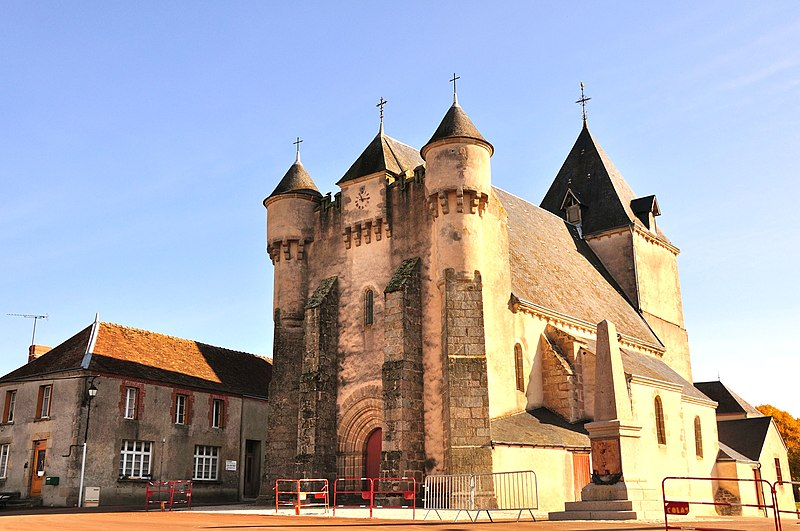 Photo du Monument Historique Eglise Saint-Michel situé à Lourdoueix-Saint-Michel
