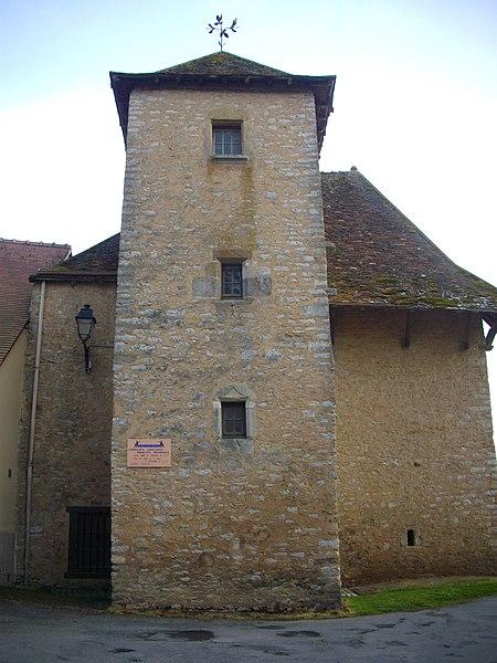 Photo du Monument Historique Restes du château situé à Neuvy-Saint-Sépulchre