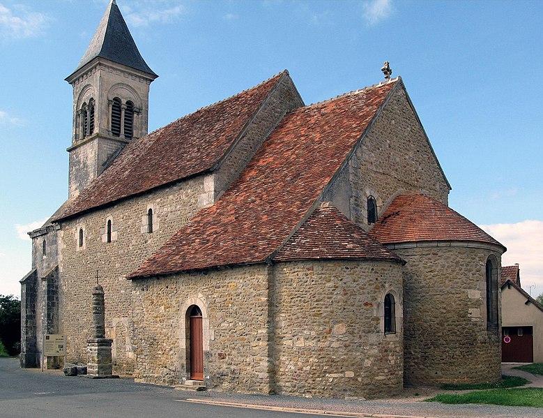 Photo du Monument Historique Eglise Saint-Martin de Vicq situé à Nohant-Vic