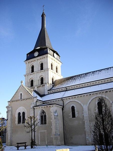Photo du Monument Historique Eglise du prieuré Saint-Gaultier situé à Saint-Gaultier