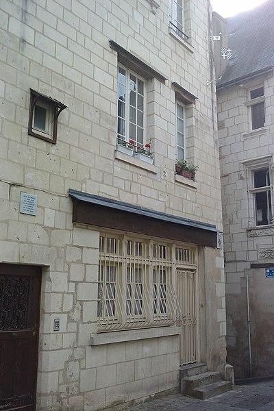 Photo du Monument Historique Hôtel dit Commanderie de l'Hôpital situé à Chinon