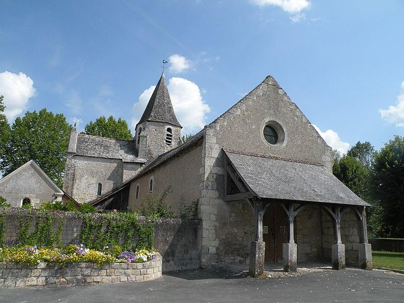Photo du Monument Historique Eglise paroissiale Saint-Quentin situé à Croix-en-Touraine (La)