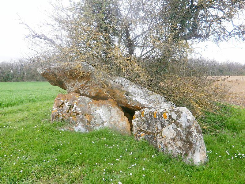 Photo du Monument Historique Dolmen dit Chillon du Feuillet situé à Descartes