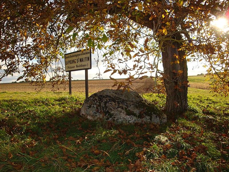 Photo du Monument Historique Polissoir fixe dit La Pierre Saint-Martin situé à Luzillé