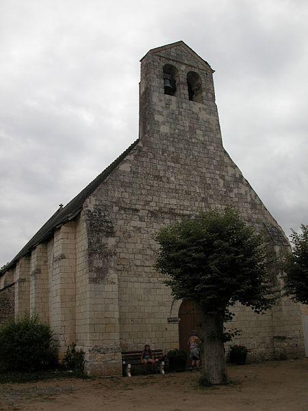 Photo du Monument Historique Eglise paroissiale Saint-Jean de Noyers situé à Nouâtre