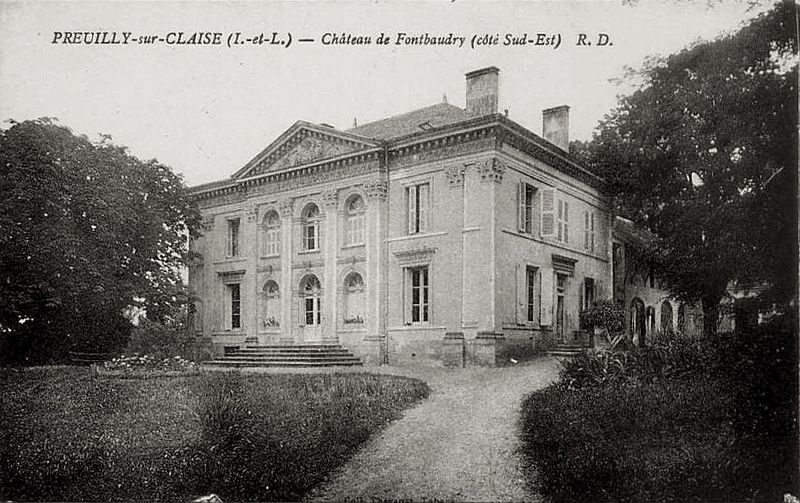 Photo du Monument Historique Château de Font-Baudry ou Fontbaudry situé à Preuilly-sur-Claise