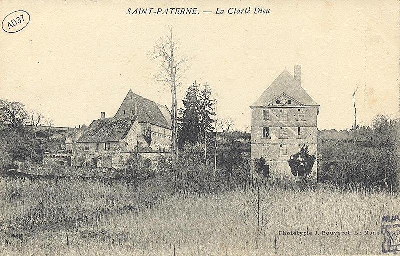 Photo du Monument Historique Ancienne abbaye cistercienne Notre-Dame de la Clarté-Dieu situé à Saint-Paterne-Racan