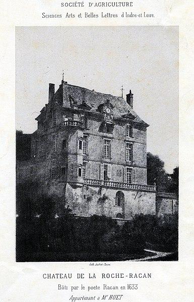 Photo du Monument Historique Château de la Roche Racan situé à Saint-Paterne-Racan