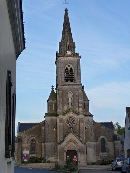 Photo du Monument Historique Eglise paroissiale Saint-Martin situé à Semblançay