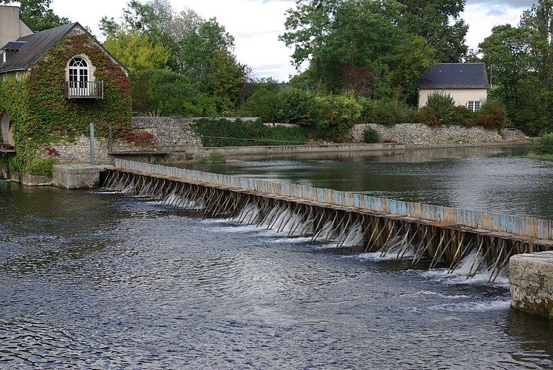Photo du Monument Historique Site du barrage éclusé mobile à aiguilles de Nitray situé à Saint-Martin-le-Beau