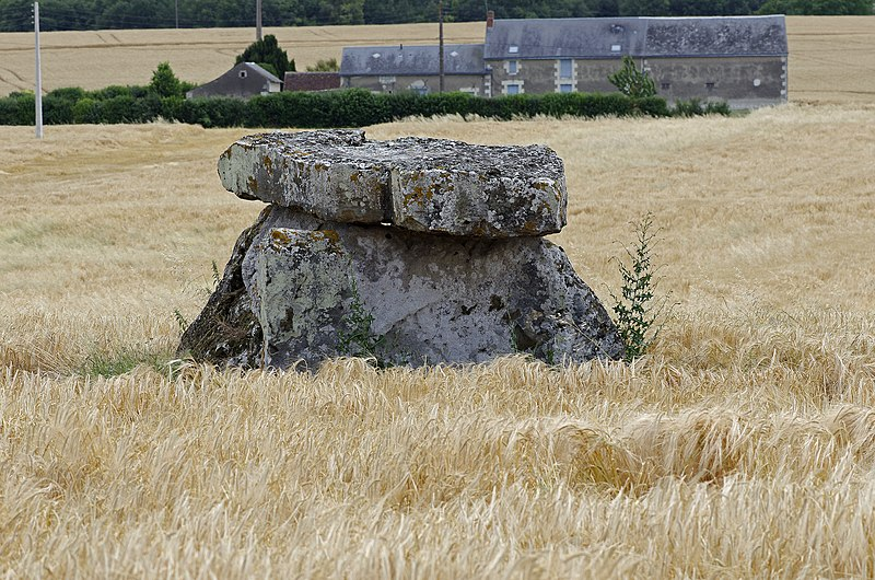 Photo du Monument Historique Dolmen de Bommiers situé à Sainte-Maure-de-Touraine
