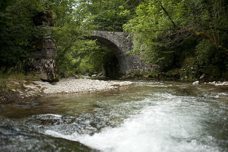Photo du Monument Historique Pont de la Dame situé à Saint-Pierre-de-Chartreuse