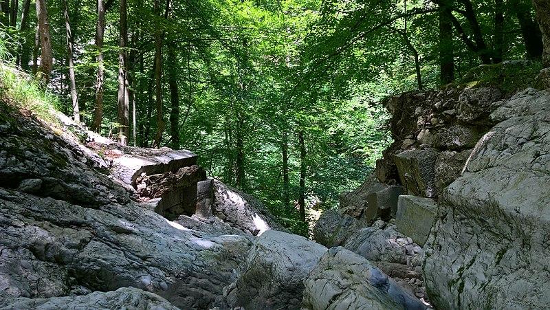 Photo du Monument Historique Pont de la Petite Vache sur la rivière du même nom situé à Saint-Pierre-de-Chartreuse