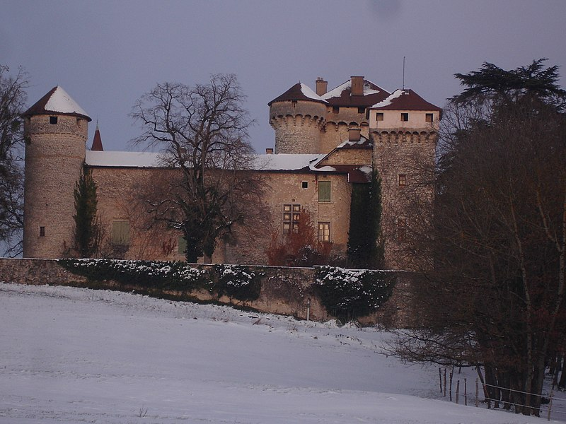 Photo du Monument Historique Château de la Poype de Serrières situé à Trept