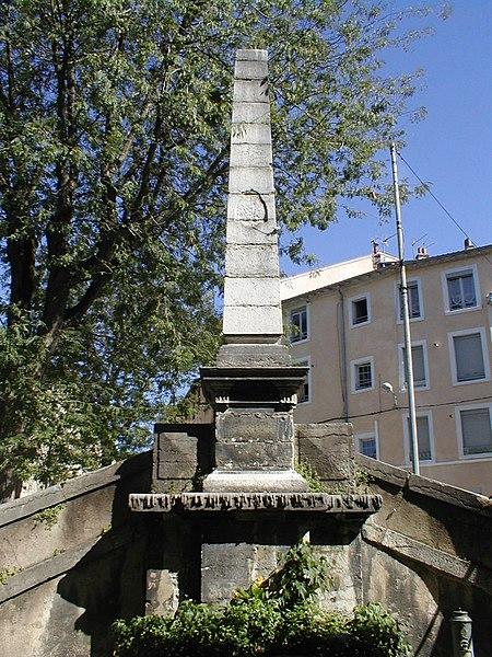 Photo du Monument Historique Fontaine situé à Vienne