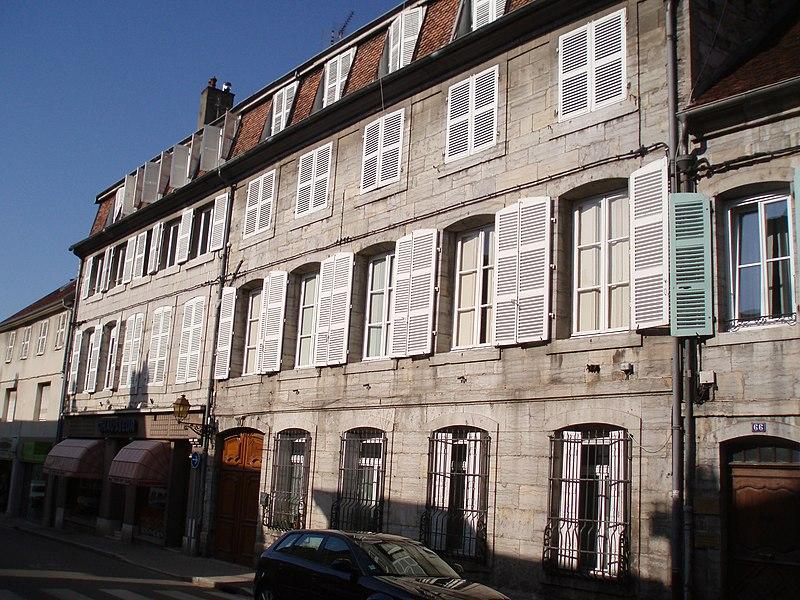 Photo du Monument Historique Hôtel de Broissia situé à Arbois