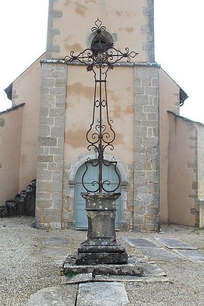 Photo du Monument Historique Croix du cimetière situé à Lombard