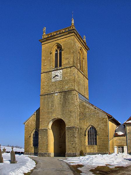 Photo du Monument Historique Eglise situé à Mièges