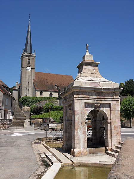 Photo du Monument Historique Fontaine situé à Moissey