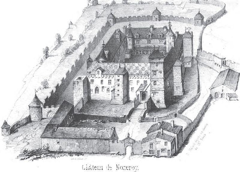 Photo du Monument Historique Château (restes du) situé à Nozeroy